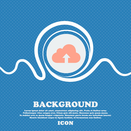 recover: Backup icon sign. Blue and white abstract background flecked with space for text and your design. Vector illustration Illustration