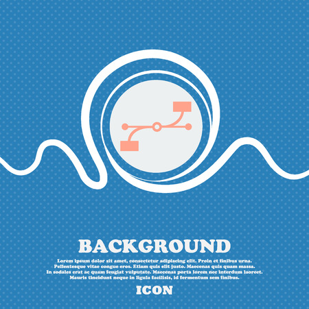 Bezier Curve icon sign. Blue and white abstract background flecked with space for text and your design. Vector illustration Illustration