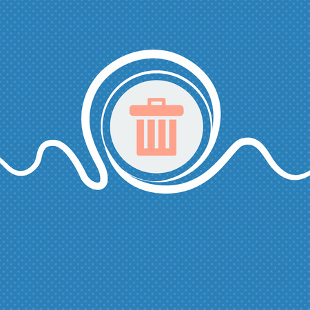 refuse bin: Recycle bin sign icon. Blue and white abstract background flecked with space for text and your design. illustration Stock Photo