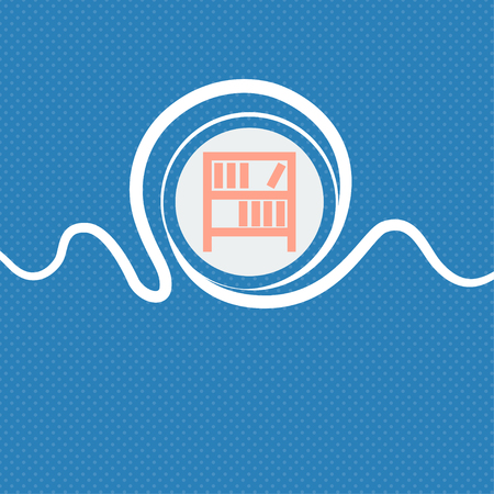 encyclopedias: Bookshelf icon sign. Blue and white abstract background flecked with space for text and your design. illustration