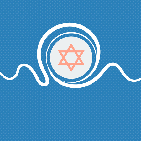blasphemy: pentagram icon sign. Blue and white abstract background flecked with space for text and your design. illustration