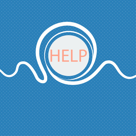 your point: Help point sign icon. Question symbol. Blue and white abstract background flecked with space for text and your design. illustration