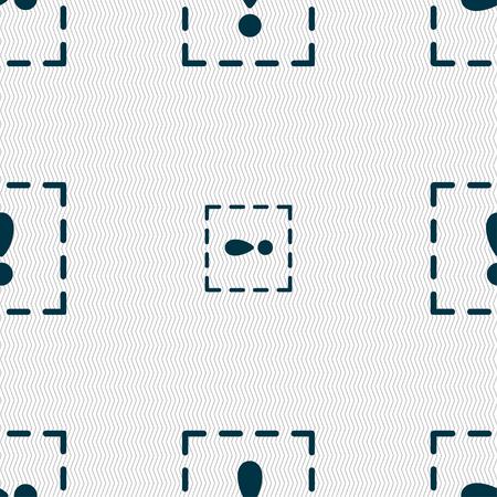 point exclamation: Le point d'exclamation dans un ic�ne signe carr�. Seamless texture g�om�trique. illustration