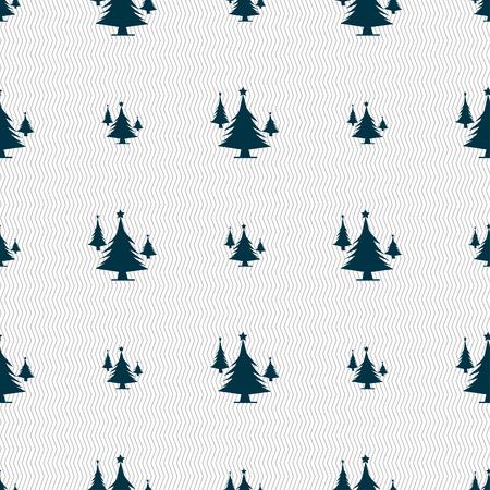 coniferous forest: bosques de coníferas, árbol, árbol de abeto icono de la muestra. Patrón sin fisuras con textura geométrica. ilustración