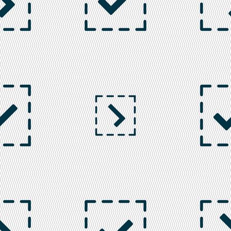 tik: Check mark, tik icon sign. Seamless pattern with geometric texture. illustration Stock Photo