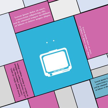 tvset: TV icon sign. Modern flat style for your design. illustration