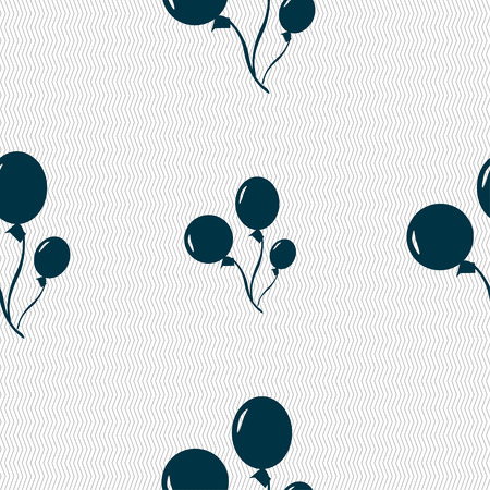 Balloons icon sign. Seamless pattern with geometric texture. illustration Stok Fotoğraf