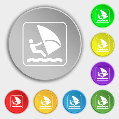 windsurfing: Windsurf Vectores