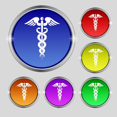 esculapio: medicina  Vectores