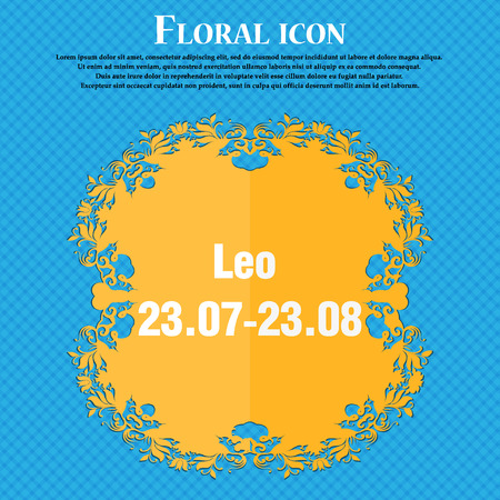 zodiacal symbol: Leo zodiac Illustration