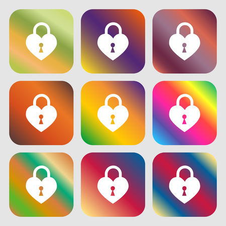 secret codes: Lock in the shape of heart sign icon Illustration