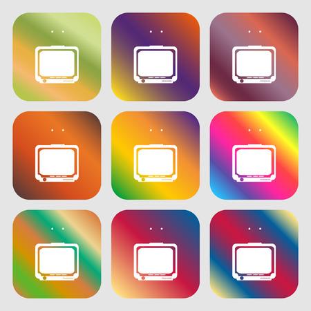 tvset: TV sign icon