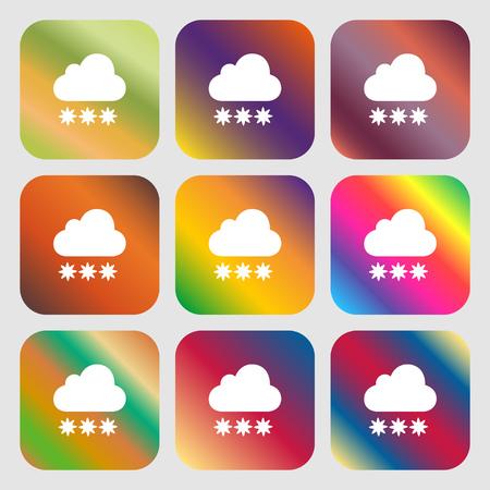 forecasting: snow cloud icon
