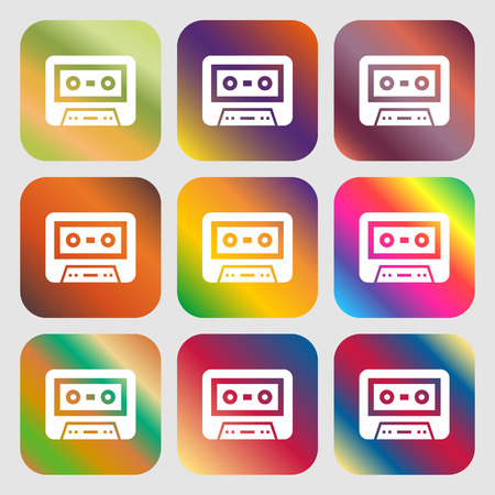 electronic 80s: audiocassette icon