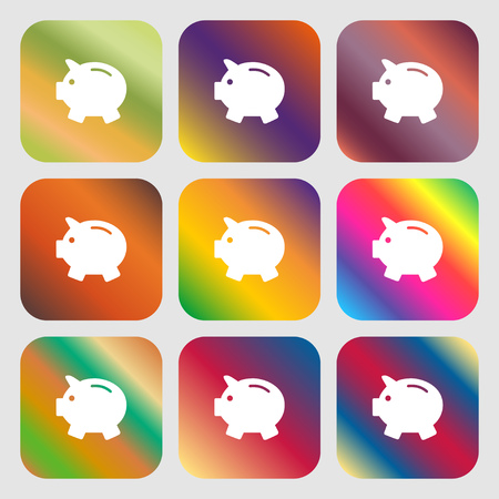 mumps: Piggy bank - saving money icon