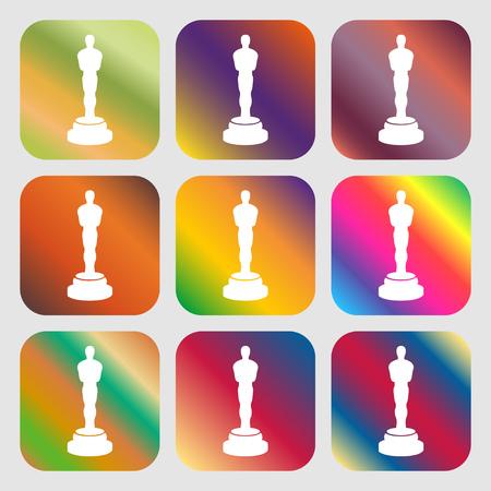 statuette: Oscar statuette sign icon Illustration