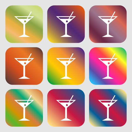 cocktail martini, Alcohol drink icon