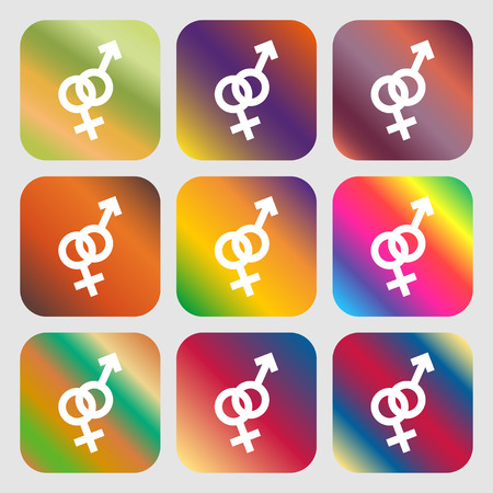womanhood: Male and female sign icon Illustration