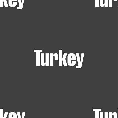 anatolia: Turkey sign. Seamless pattern on a gray background. illustration