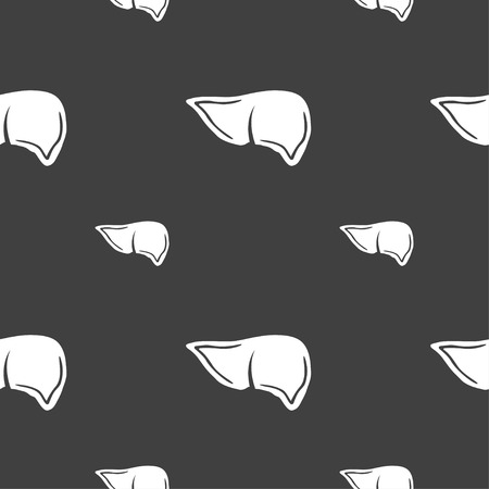 bile: Liver sign. Seamless pattern on a gray background. illustration Stock Photo