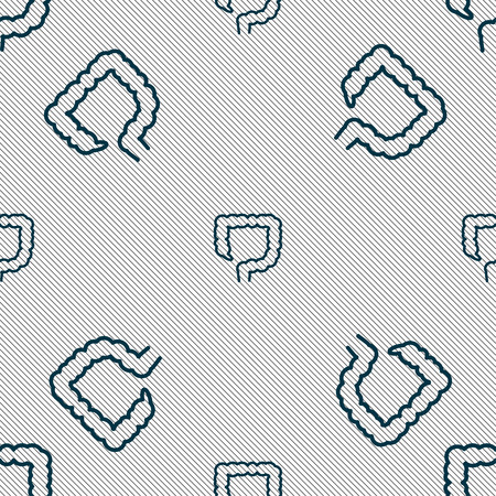 jejunum: large intestine sign. Seamless pattern with geometric texture. illustration