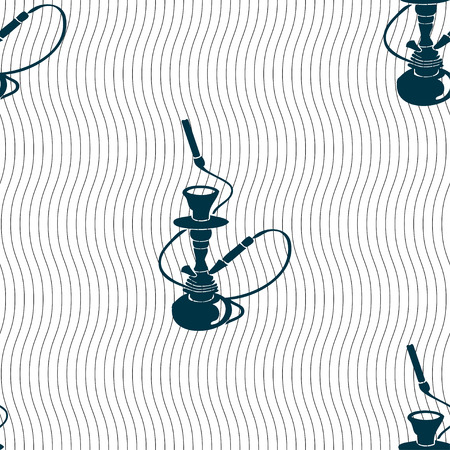 custom letters: Hookah sign. Seamless pattern with geometric texture. illustration