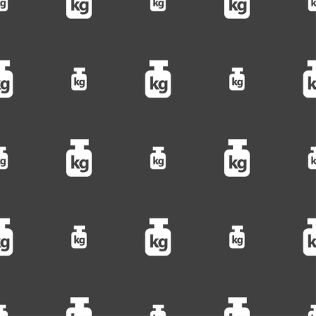heaviness: Weight sign. Seamless pattern on a gray background. illustration