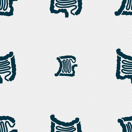 descending colon: Intestines sign. Seamless pattern with geometric texture. illustration