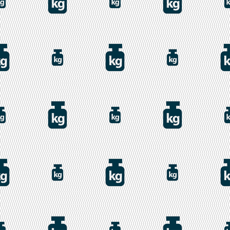 heaviness: Weight sign. Seamless pattern with geometric texture. illustration