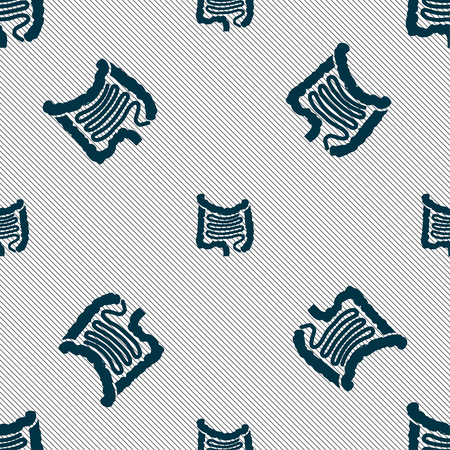 intestines: Intestines sign. Seamless pattern with geometric texture. illustration