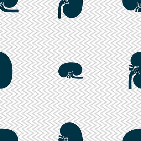 nephritis: Kidney sign. Seamless pattern with geometric texture. illustration