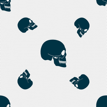 Skull sign. Seamless pattern with geometric texture. illustration