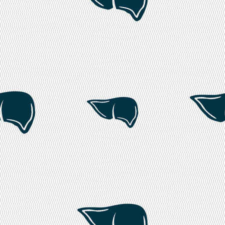 consept: Liver sign. Seamless pattern with geometric texture. illustration