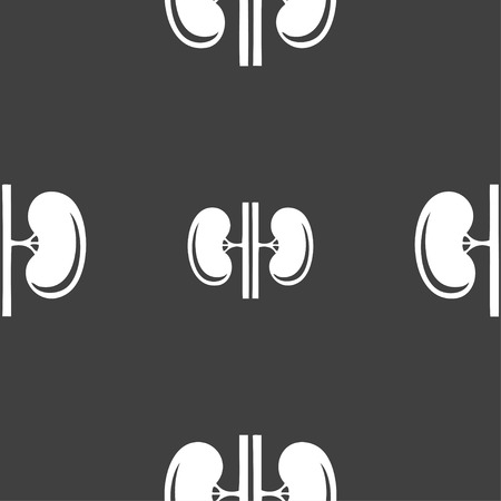 vitals: Kidneys sign. Seamless pattern on a gray background. illustration