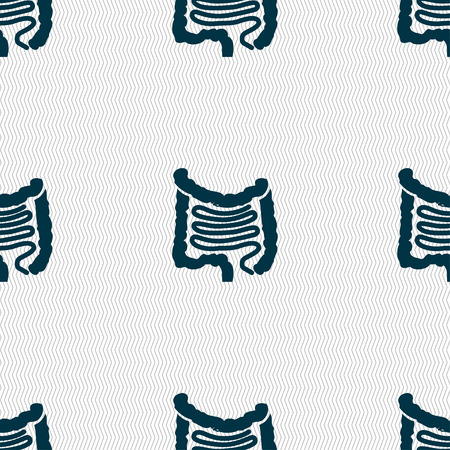 ileum: Intestines sign. Seamless pattern with geometric texture. illustration