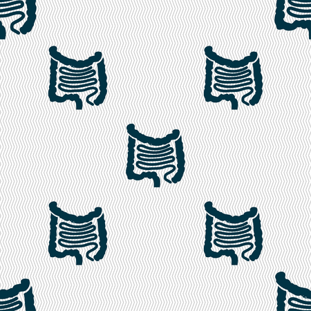 alimentary canal: Intestines sign. Seamless pattern with geometric texture. illustration