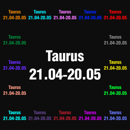 ecliptic: Taurus icon sign. Lots of colorful symbols for your design. illustration Stock Photo