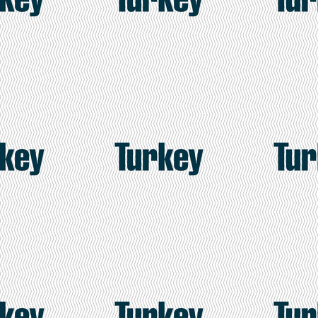 anatolia: Turkey sign. Seamless pattern with geometric texture. illustration Stock Photo