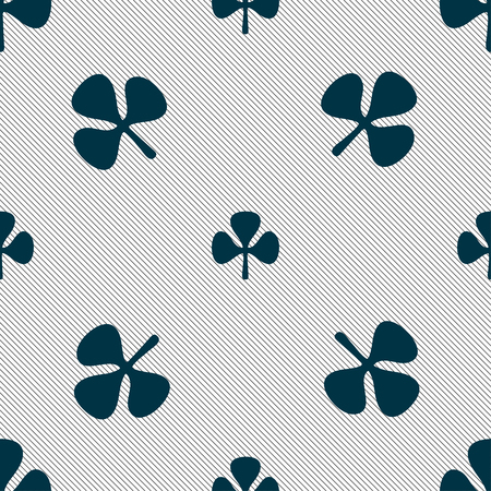clover face: Clover sign. Seamless pattern with geometric texture. illustration Stock Photo