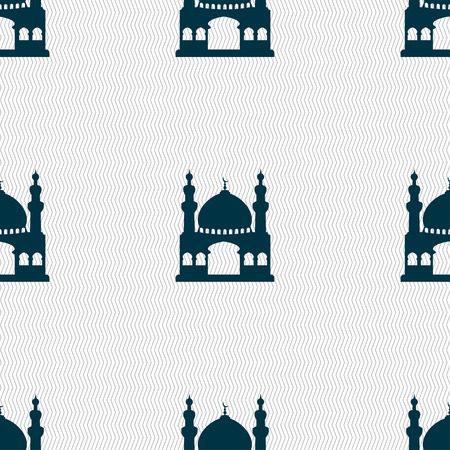 anatolia: Turkish architecture, mosque sign. Seamless pattern with geometric texture. illustration Stock Photo