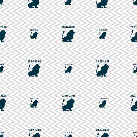water birth: Leo zodiac sign. Seamless pattern with geometric texture. illustration