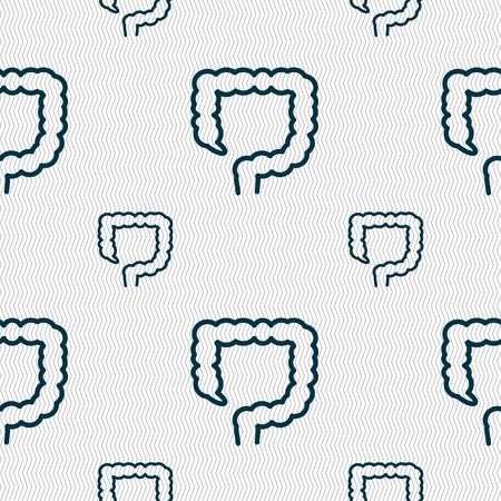 ileum: large intestine sign. Seamless pattern with geometric texture. illustration