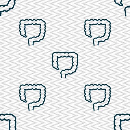 large intestine: large intestine sign. Seamless pattern with geometric texture. illustration