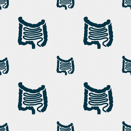 sigmoid colon: Intestines sign. Seamless pattern with geometric texture. illustration
