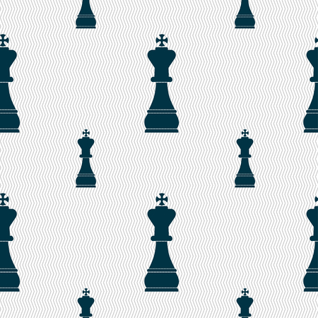 metaphorical: Chess king sign. Seamless pattern with geometric texture. illustration