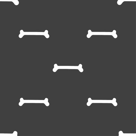 icone: Dog bone sign. Seamless pattern on a gray background. illustration Stock Photo