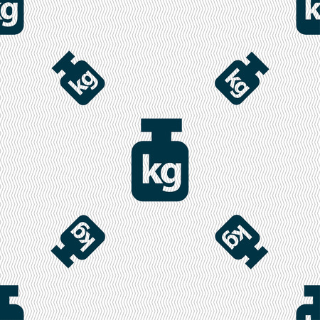 kilograms: Weight sign. Seamless pattern with geometric texture. illustration
