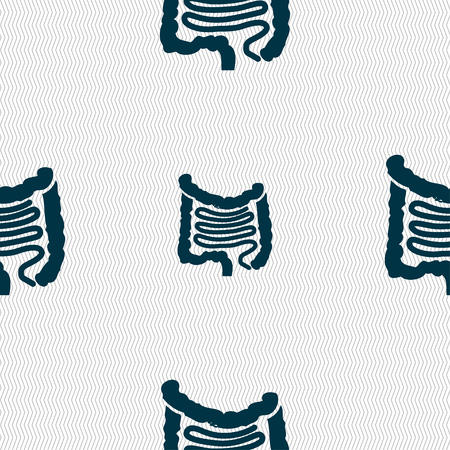 rectum: Intestines sign. Seamless pattern with geometric texture. illustration