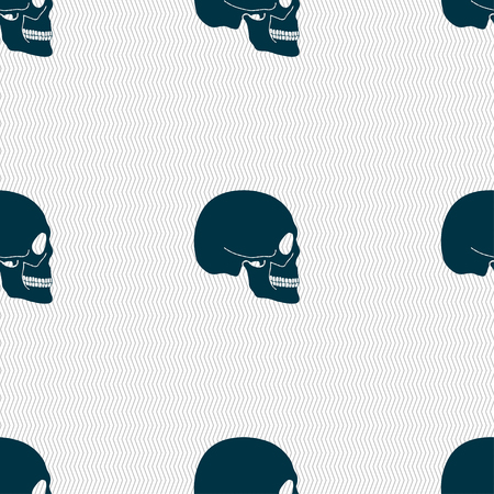 privateer: Skull sign. Seamless pattern with geometric texture. illustration
