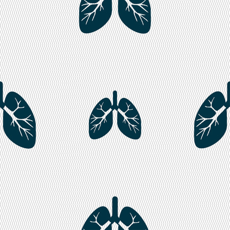 pulmones: Lungs sign. Seamless pattern with geometric texture. illustration